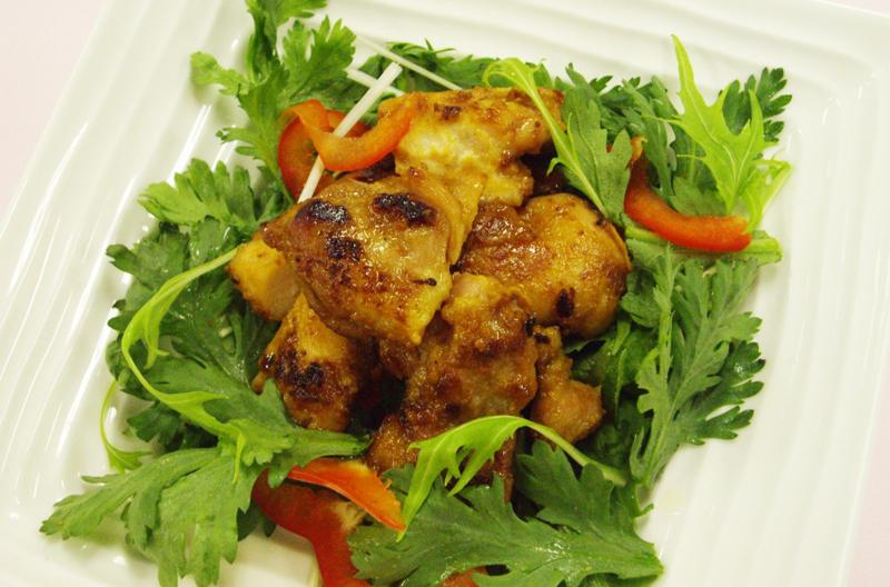 鶏肉の韓国風みそくわ焼き